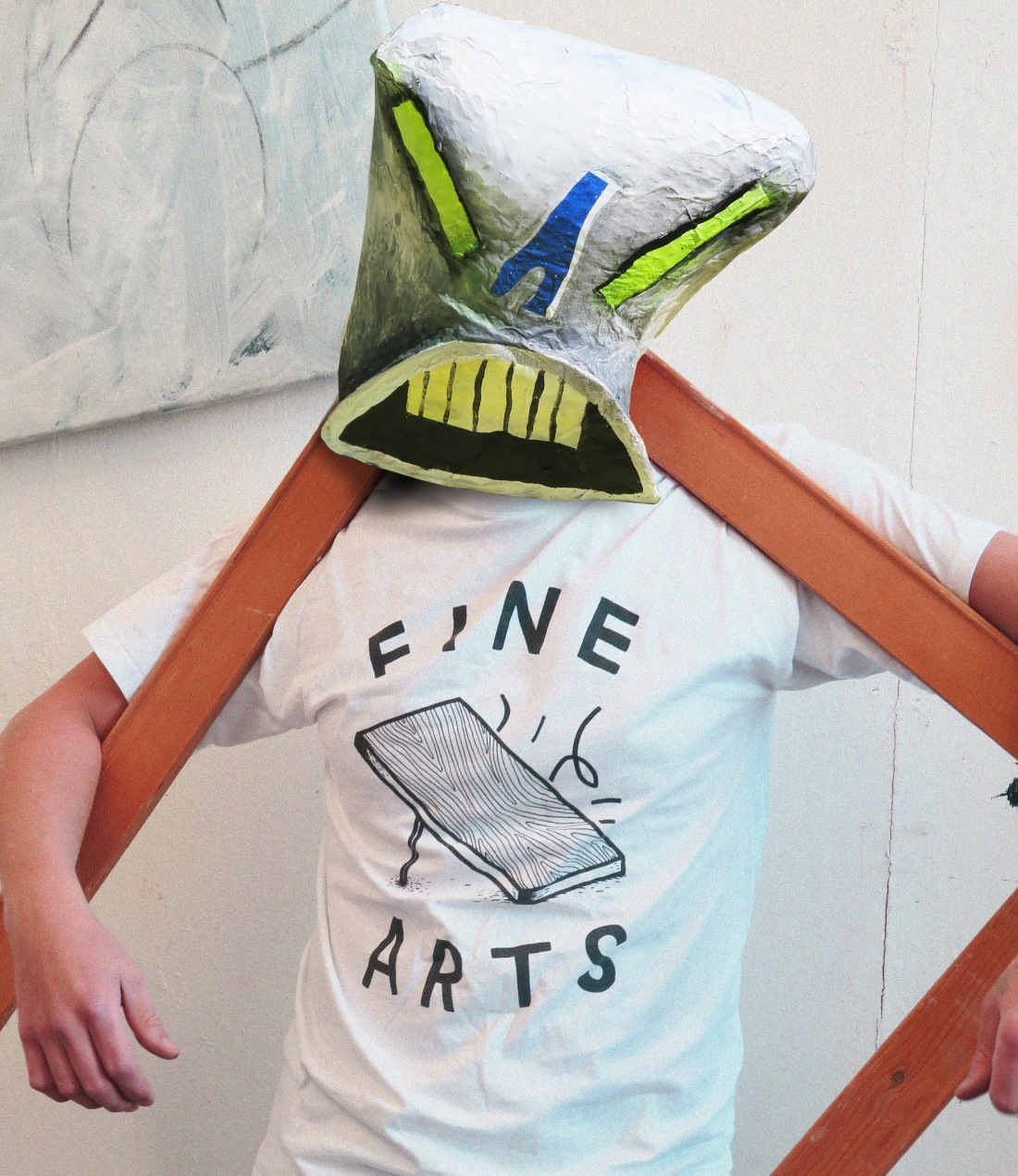 FINE ARTS MASK TSHIRT